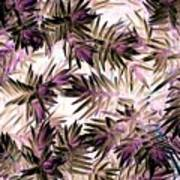 Nature Abstract In Pink And Brown Art Print