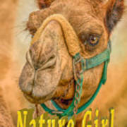 Nature Girl Camel Art Print