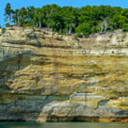 Nature Made- Indian Head Pictured Rocks Art Print