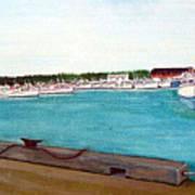Naufrage Harbour Pei Art Print