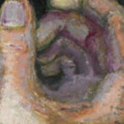Nautilus Hand Art Print