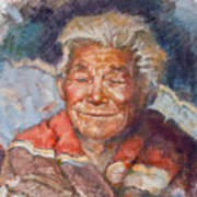 Navaho Wisdom Art Print by Ellen Dreibelbis