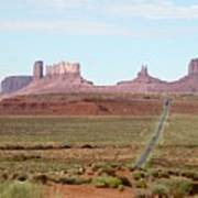 Navajo Flag At Monument Valley Art Print