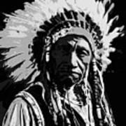 Navajo Indian Chief Art Print