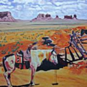 Navajo Ponies Art Print