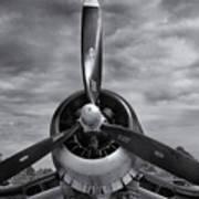 Navy Corsair Propeller Art Print