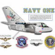 Navy One Art Print