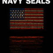 Navy Seals Flag Art Print