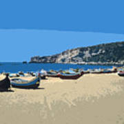 Nazara Beach 4 Art Print
