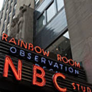 Nbc Studio Rainbow Room Sign Art Print