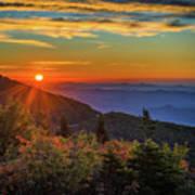 Nc Mountain Sunrise Blue Ridge Mountains Art Print