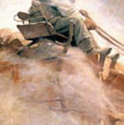 N.c. Wyeth: Ore Wagon Art Print