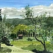 Near San Giovanalle Tuscany Art Print