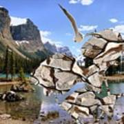 Near The Lake In The Mountain 2 Art Print