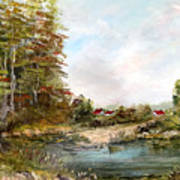 Near The Pond Art Print