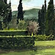 Near Villa Mandri Gardens Art Print