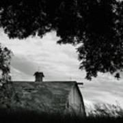 Nebraska - Barn - Black And White Art Print