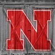 Nebraska Cornhuskers Barn Doors Art Print