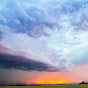 Nebraska Thunderstorm Eye Candy 021 Art Print