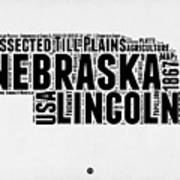 Nebraska Word Cloud 2 Art Print