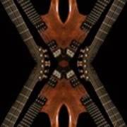 Necking Guitars Art Print