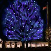 Needham's Blue Tree Art Print