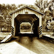 Neff's Mill Covered Bridge - Lancaster County Pa. Art Print
