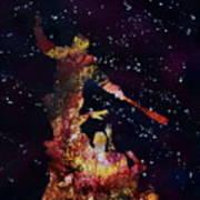 Negan Triumph And Stars Art Print