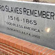 Negro Slaves Remembered Art Print by Warren Thompson