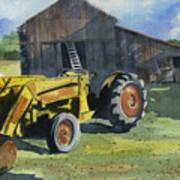 Neighbor Dons Tractor Art Print