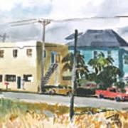 Neighborhood Corner Art Print