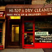 Neighborhood Shop - Dry Cleaners Art Print