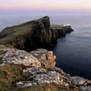 Neist Point Lighthouse, Isle Of Skye, Scotland Art Print