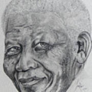 Nelson Mandela Art Print by Stephen Sookoo