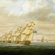 Nelson's Inshore Blockading Squadron At Cadiz, July 1797 Art Print