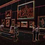 Neon Art Gallery At Louvre Art Print