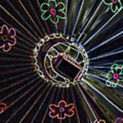 Neon Balloon Art Print