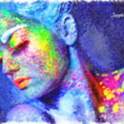 Neon Beauty Art Print