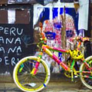 Neon Bike Art Print