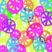 Neon Circles Art Print