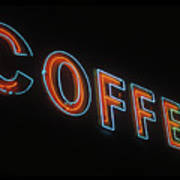 Neon Coffee Art Print