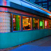 Neon Diner Art Print by Crystal Nederman