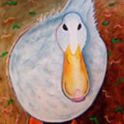 Neon Duck Art Print