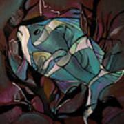 Neon Fish Art Print