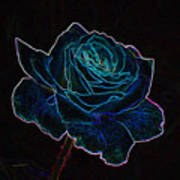 Neon Rose 3 Art Print