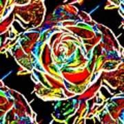 Neon Rose Art Print