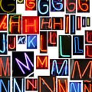 neon series G through N Art Print
