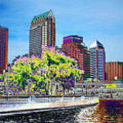 Neon Tampa Art Print