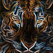 Neon Tigress Art Print