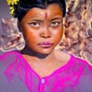 Nepalese Girl Art Print by David  Horning
